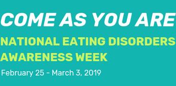 National Eating Disorders Week - Feb 25 - March 3