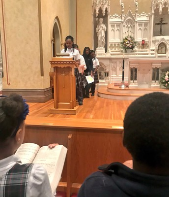 Student Ambassadors were able to celebrate Mass and read the Prayers of the Faithful.