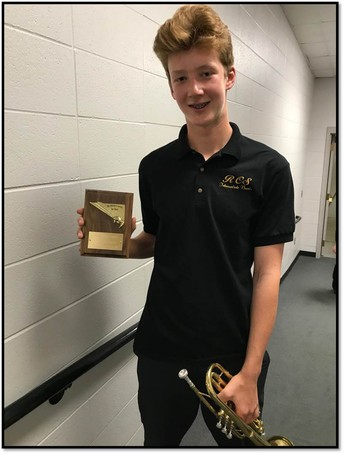 Sam R. had Excellence in Band awarded