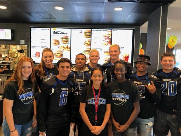 CHS Athletes at McDonalds
