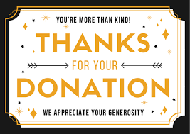 Thank you for your donations during this 2019-20 school year!