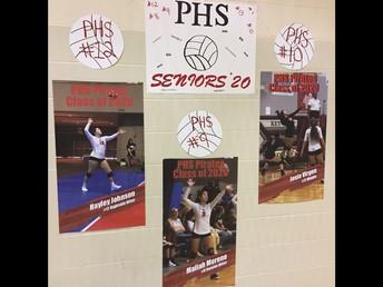 Senior Night for Varsity Volleyball