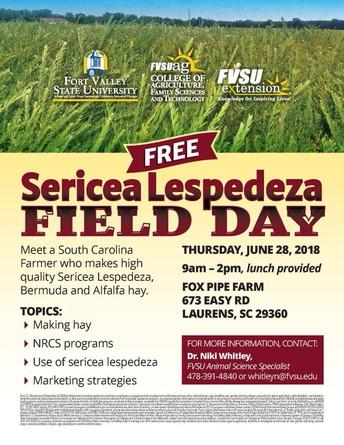 Sericea Lespedeza Field Day