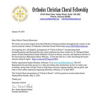 "Virtual Choir of ""Christ Is Risen"" by Fr. Michael Pallad"