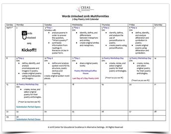WU18 Calendar