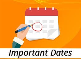 Important Dates: March 8th - March 12th