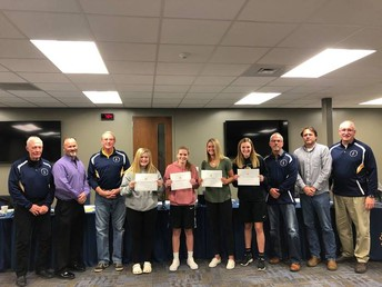 Girls Varsity Golf honored at the November Board Meeting!