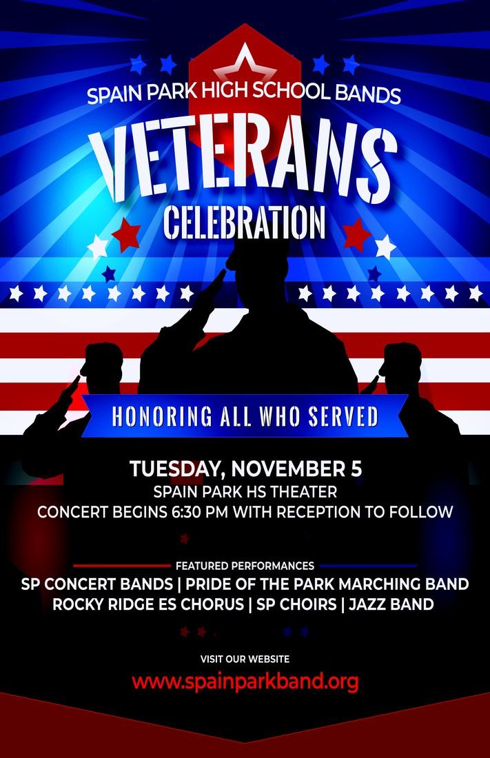 Spain Park Band Veterans Program November 5th at 6:30 pm