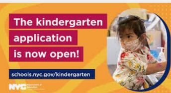 2021 Kindergarten Application Period Open