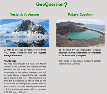 Sign up for Daily Geo