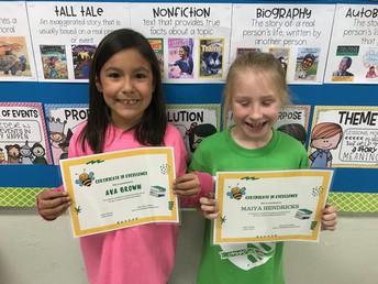 Ava and Maiya from Delaney Elementary