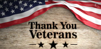 Thank you Veterans sign on wood with American flag