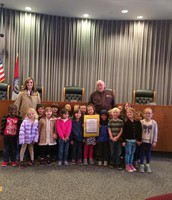 Mrs. Milius and class at City Hall