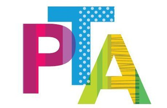 PTA letters in colorful patterns and designs