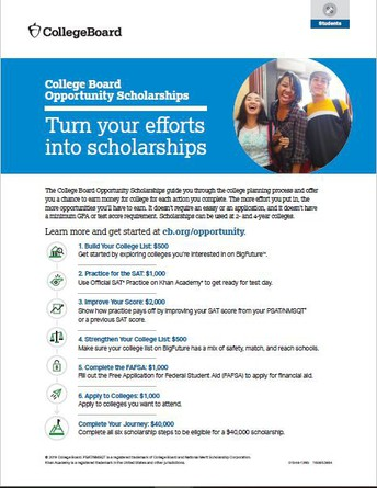 College Board Opportunity Scholarships: