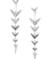 Arrow drop earrings were £40 now £20