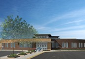 Architectural rendering of main entrance