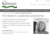 Marie A. Calderilla Scholarship (4/17)