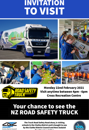 Truck Road Safety Visit to Balclutha