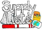 School Supply Lists