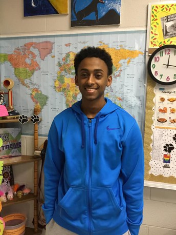Omar Ibrahim scores perfect on National Spanish Exam