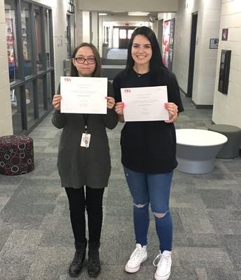 CGA Honorable Mention: Jocelyn Robins and Kayla Madureira
