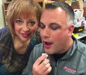 Mr. B borrows Ms. Lehmann's make up