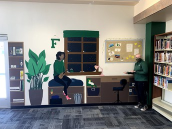 Rein and friends complete media center mural