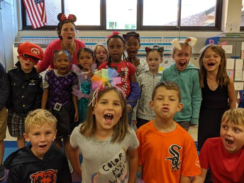 Ms. Barker's Class ROARED About Earning a Big WOW Party!
