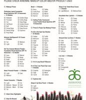 Makeup Checklist (Optional)