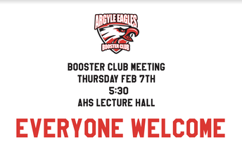 ARGYLE EAGLES BOOSTER CLUB MEETING TONIGHT!