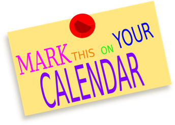 Mark your Calendars 5th Graders!