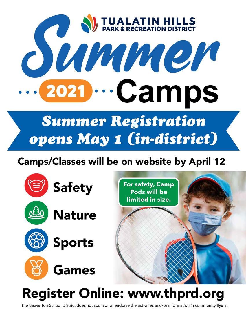 THPRD Summer Registration Flyer