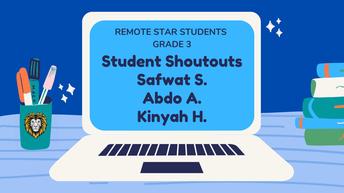 3rd Grade Remote Star Students