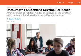 Using Habits of Mind to Encourage Students to Develop Resilience
