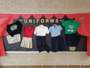 picture of 5 school uniforms