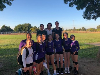 Varsity Volleyball Players at Los Molinos Tournament