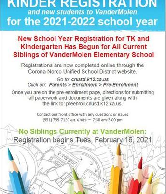 Kinder Registration