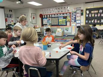 Counting to ten in Kindergarten