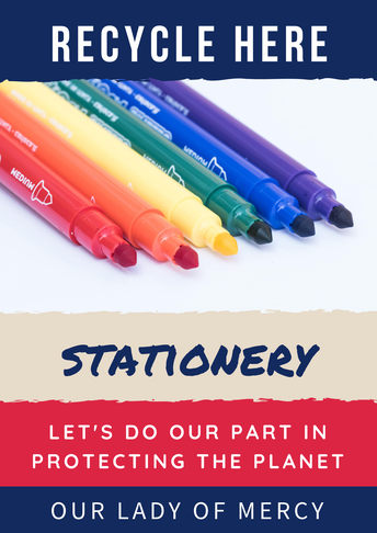 Recycling - bring in old stationery