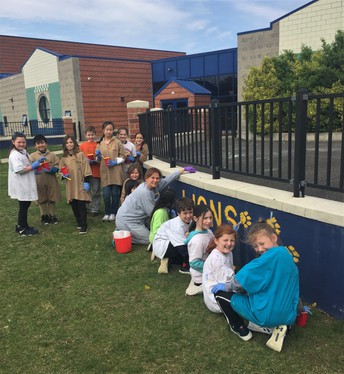 The students really enjoyed being a part of creating our new welcome sign. As the season warms, the rest of the Cold Springs students will also have the opportunity to put their hand prints on the wall.