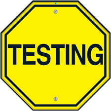 STATE Testing happening now