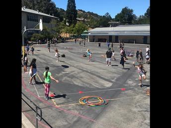 Kids during PE+ time