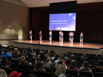 """UHS student leaders and staff members speak to UMS 8th graders at """"What To Expect Night"""""""