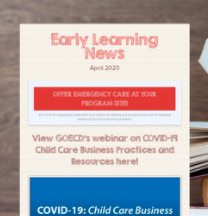 Early Learning Newsletter