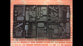 Assemblage wall sculpture