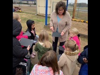 Pre-K catches Snow Flakes!