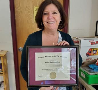 KPMS STEM Teacher, Sue Hall, Awarded National Certification