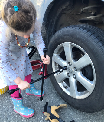 Changing a tire!