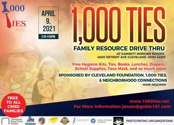 1000 Ties Family Resource Drive Thru Event